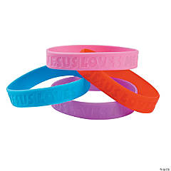 Jesus Loves Me Rubber Bracelets