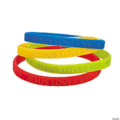 Jesus Loves Me Thin Band Bracelets