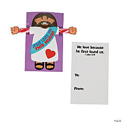 Jesus Loves You Candy Sticks with Card