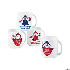 Jesus Loves You Snow Much Plastic Mugs