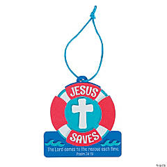 Jesus Saves Life Preserver Ornament Craft Kit