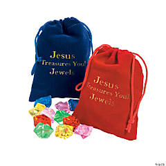 Jesus Treasures You Drawstring Bags with Jewels