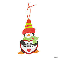 Jesus Warms My Heart Penguin Ornament Craft Kit