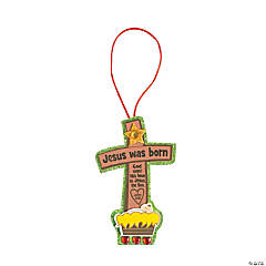 """Jesus Was Born"" Ornament Craft Kit"