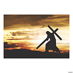 Jesus with Cross Backdrop Banner