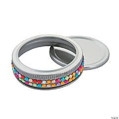 Jeweled Mason Jar Lids