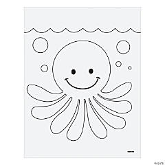 Jeweled Octopus Mosaic Template Idea