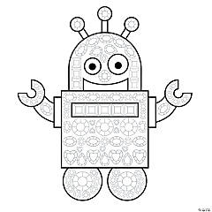 Jeweled Robot Mosaic Template