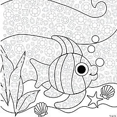Jeweled Tropical Fish Mosaic Template Idea