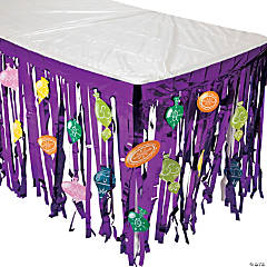 Jeweltone Table Skirt with Ornament Cutouts