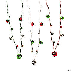 Jingle Bell Bead Necklaces
