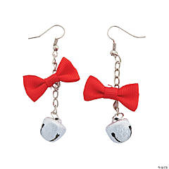 Jingle Bell Bow Earrings Craft Kit