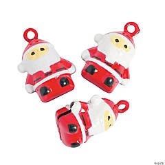 Jingle Bell Santa Charms