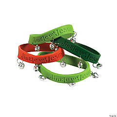 Jingle for Jesus Rubber Bracelets with Bells