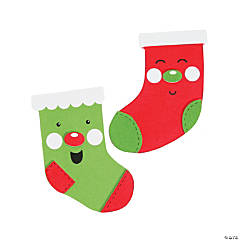 Jolly Stocking Magnet Craft Kit