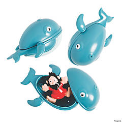 Jonah & the Whale Toy-Filled Plastic Easter Eggs - 12 Pc.