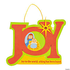 """Joy"" Nativity Sign Craft Kit"