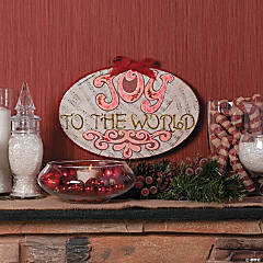 """Joy To The World"" Plaque Idea"