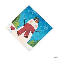 Joyful Snowman Luncheon Napkins