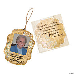 Joyfully Remembered Picture Frame Ornament with Card