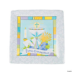 Joyous Communion Square Dinner Plates