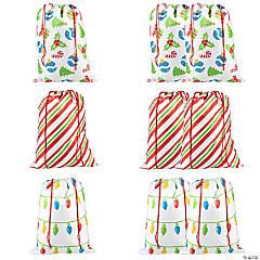 Jumbo Christmas Drawstring Bags