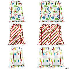 Jumbo Christmas Drawstring Bag