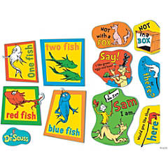 Jumbo Dr. Seuss™ Fish, Fox & Sam Cutouts