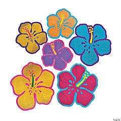 Jumbo Glitter Hibiscus Cutouts