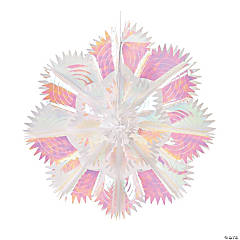 Jumbo Iridescent Snowflake Decoration