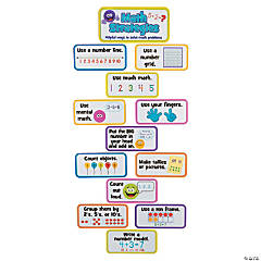Jumbo Math Strategy Mini Bulletin Board Set