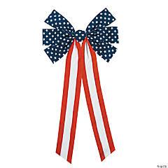 Jumbo Patriotic Flocked Bows