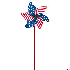 Jumbo Patriotic Pinwheel Yard Sign