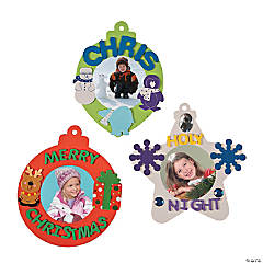Jumbo Picture Frame Christmas Ornaments