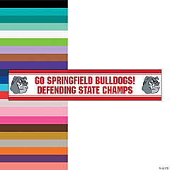 Jumbo Red Custom Photo Stadium Banner