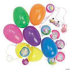 Jumbo Toy-Filled Bright Plastic Easter Eggs - 24 Pc.