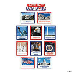 Jumbo USA Symbols Mini Bulletin Board Set