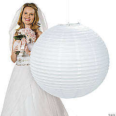 Jumbo White Hanging Party Lantern