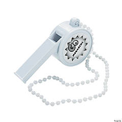 Jumbo White Personalized Whistles