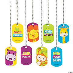 Jungle Motivational Dog Tag Necklaces