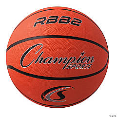 Junior Rubber Basketball, Orange, Set of 3