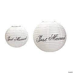 """Just Married"" Lanterns"