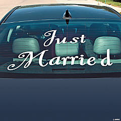 """Just Married"" Window Cling"