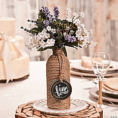 Jute-Wrapped Bottle Centerpiece Idea