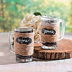 Jute Wrapped Wedding Mugs