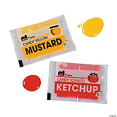Ketchup & Mustard Liquid Candy Packs