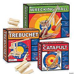 KEVA Catapult, Trebuchet and Wrecking Ball: Set of 3