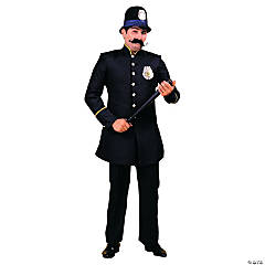 Keystone Cop Adult Men's Costume - Black
