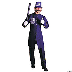 Keystone Cop Adult Men's Costume - Blue