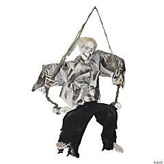 Kicking Reaper on Swing Halloween Décor